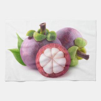 Purple mangosteens tea towel