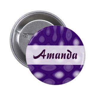 Purple Mania - Name 6 Cm Round Badge