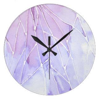 Purple Marble Break Large Clock