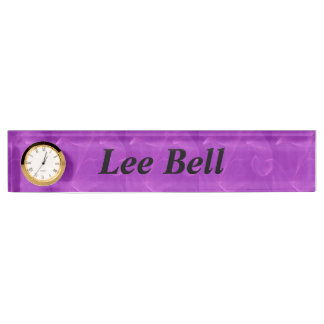 Purple Marble Desk Nameplates