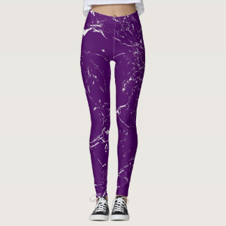 Purple Marble Leggings