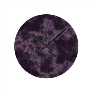 Purple Marble Texture Clocks