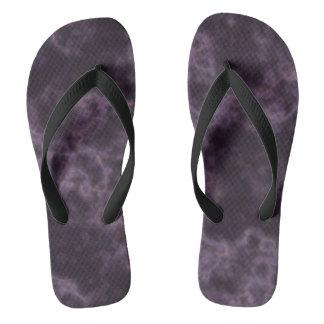 Purple Marble Texture Flip Flops