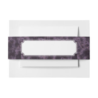 Purple Marble Texture Invitation Belly Band
