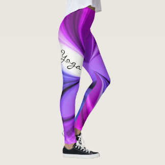 Purple Marble Watercolor Yoga Design Leggings