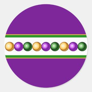 Purple Mardi Gras Beads Sticker