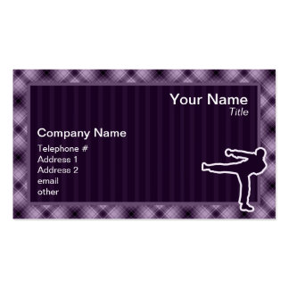 Purple Martial Arts Pack Of Standard Business Cards