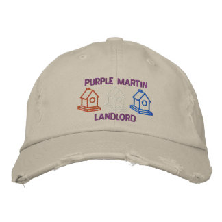 Purple Martin Landlord Embroidered Hat