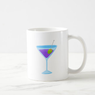 Purple Martini Basic White Mug