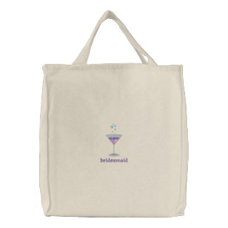 Purple Martini Personalized Embroidered Bag