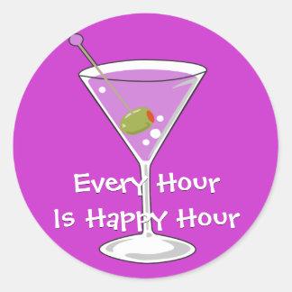 Purple Martini Sticker