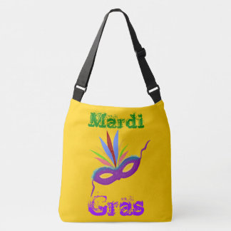 Purple Mask Mardi Gras Tote Bag