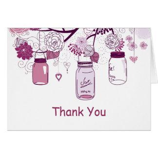 Purple Mason Jars and Love Birds Postage Card