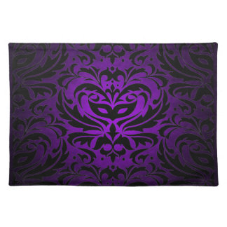 Purple Masquerade Damask Stylish Placemat