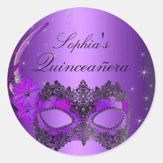 Purple Masquerade Quinceanera Sticker