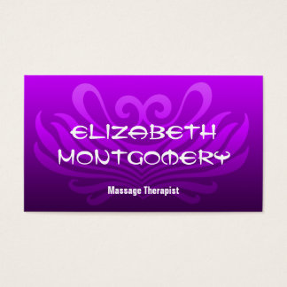 Purple Massage - Spa Appointment Business Card