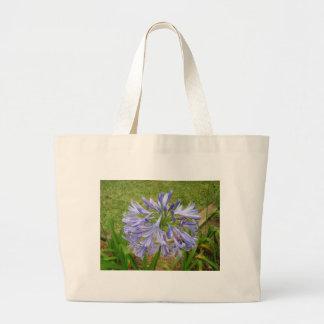 Purple Maui Flower Canvas Bags