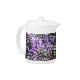 Purple / Mauve Flower Teapot