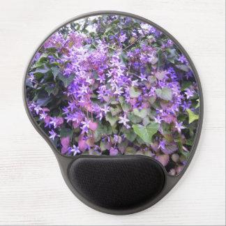 Purple / Mauve Flowers Photo Gel Mousepad Gel Mouse Mat