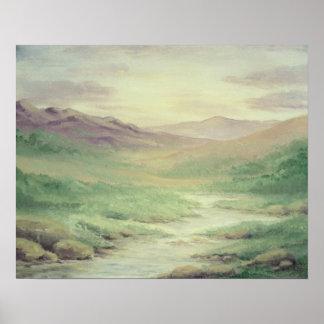 Purple Meadow Landscape Poster