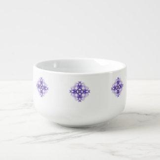 Purple Medieval Cross Soup Mug