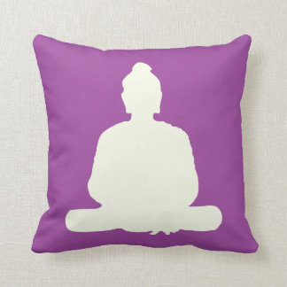 Purple Meditation Buddha Pillow