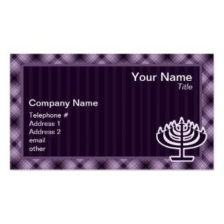 Purple Menorah Business Card Template