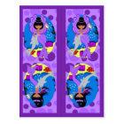Purple Mermaid and Merfaery Bookmarks Postcard