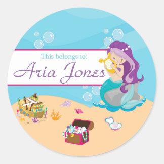 Purple Mermaid Back to School Sticker