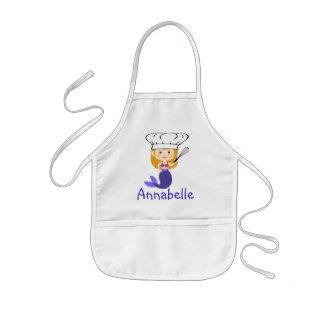 Purple Mermaid Chef Personalize Kids Apron