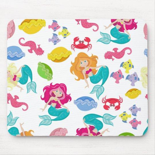Purple Mermaid Mouse pad