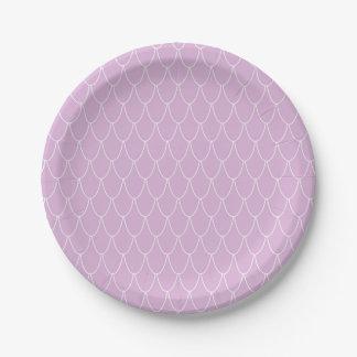 Purple Mermaid Party Paper Plates