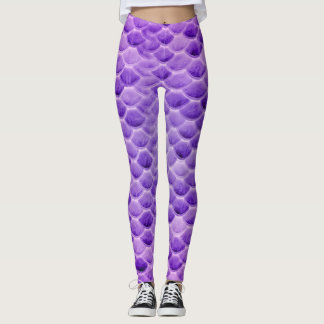 Purple Mermaid Scale Leggings