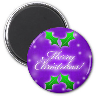 Purple Merry Christmas Magnet