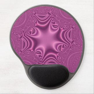 Purple messy pattern gel mouse pad