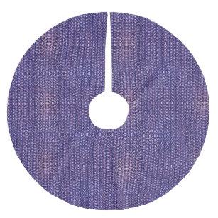Purple Metal Chain mail Metallic Mediaeval Style Brushed Polyester Tree Skirt