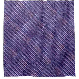 Purple Metal Chain mail Metallic Medieval Style Shower Curtain