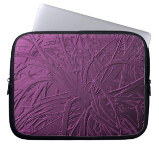 Purple Metallic Air Plant Relief Laptop Sleeve