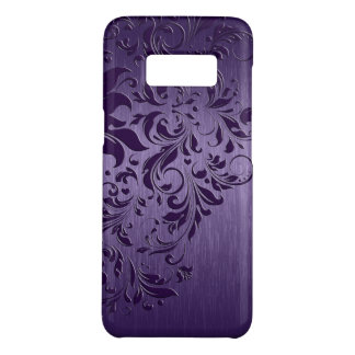 Purple Metallic Background With Deep Purple Lace Case-Mate Samsung Galaxy S8 Case