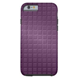 Purple Metallic Brushed Aluminum Look Geometric Tough iPhone 6 Case
