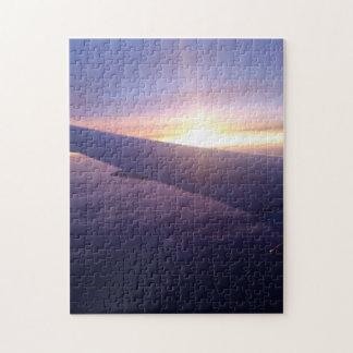 Purple Mid-flight Sunrise Jigsaw Puzzle