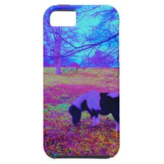 Purple miniature horse iPhone 5 cover
