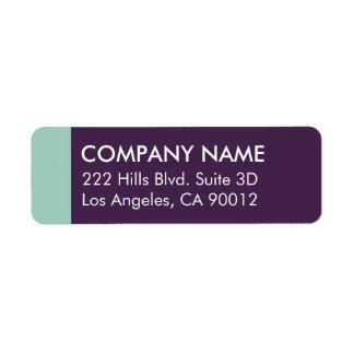 Purple Mint Color Block Modern