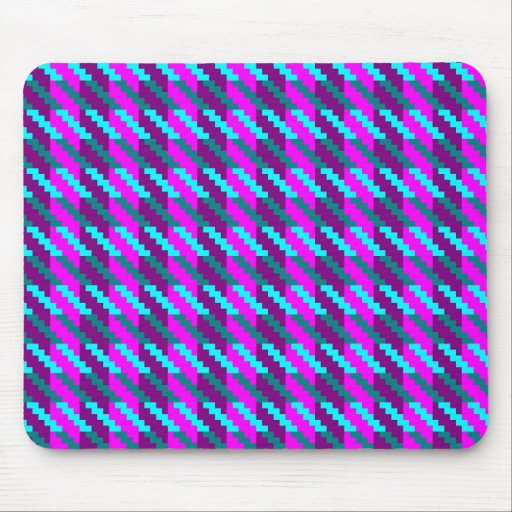 Purple Mix Hounds Tooth Mousepad