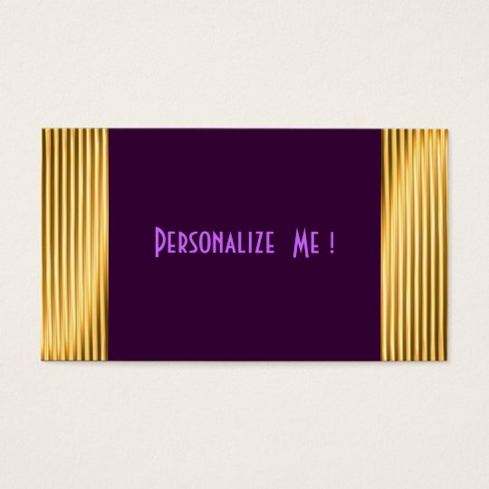 Purple Modern Gold Elegant Cool / House-of-Grosch Business Card