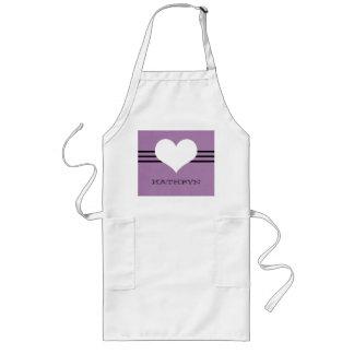 Purple Modern Heart Apron