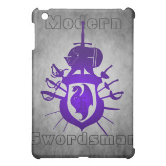 Purple Modern Swordsman Dragon Crest  Case For The iPad Mini