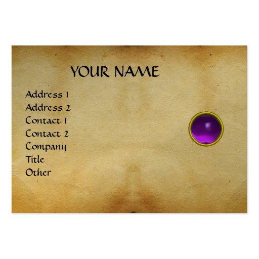 PURPLE MON ,GREY AGATA , parchment,violet,platinum Business Cards
