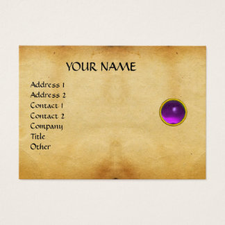 PURPLE MON ,GREY AGATA , parchment,violet,platinum Business Card