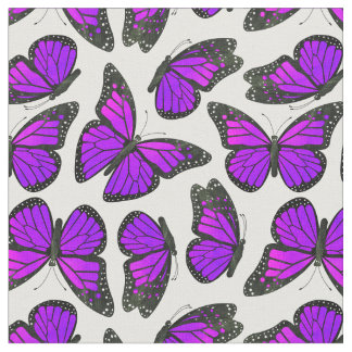 Purple Monarch Butterfly Pattern Fabric